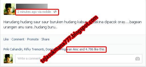 Contoh Kata Kata Facebook Yang Banyak Di Like